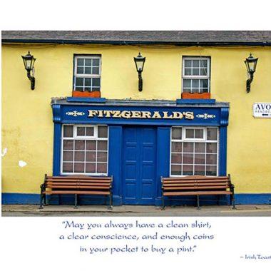 Fitzgerald's Pub Irish Birthday Card