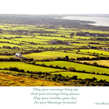 blessings increase irish landscape birthday card