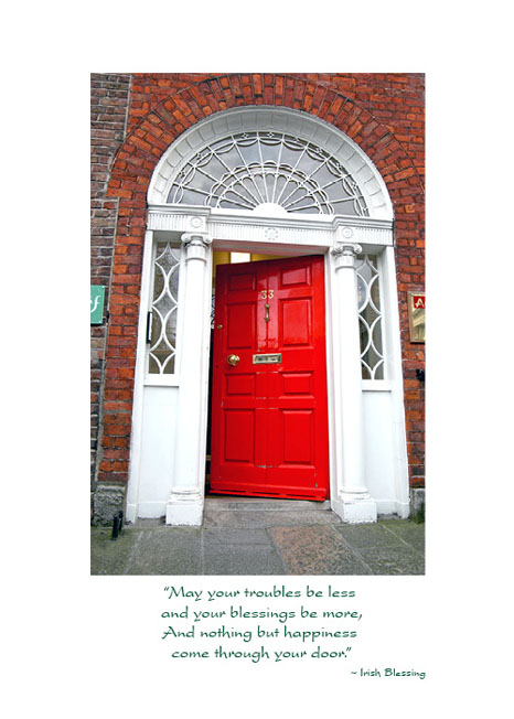 Iw 106 georgian door irish new home card the irish card shop for 106 door cards