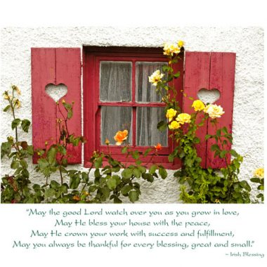 Irish cottage wedding card