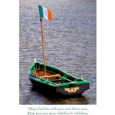 Irish boat wedding card
