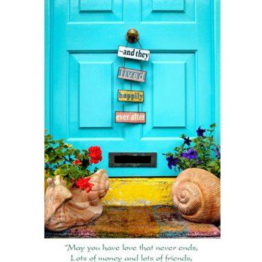 Happily ever after door card