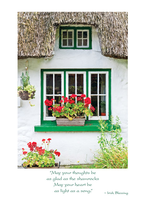 Thatched irish cottage birthday