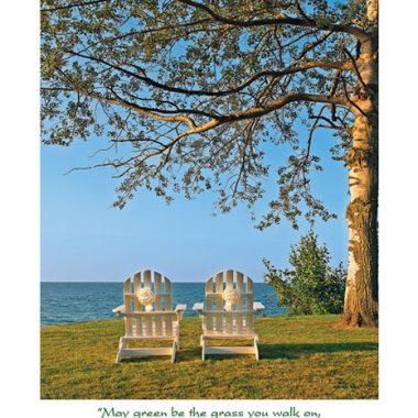 Adirondack wedding chairs card