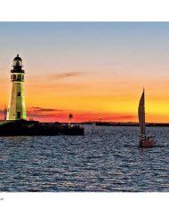 Buffalo Lighthouse sunset