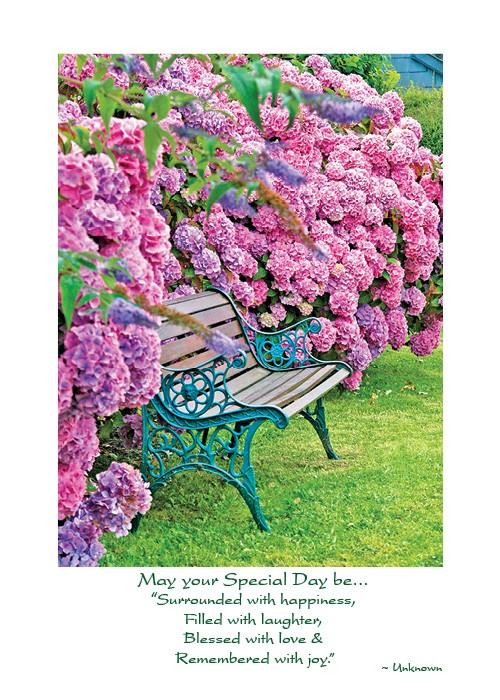 Iw 228 Hydrangea Irish Birthday Card The Irish Card Shop The