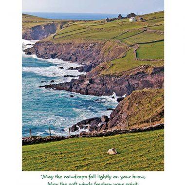 Irish coastline get well greetingcard