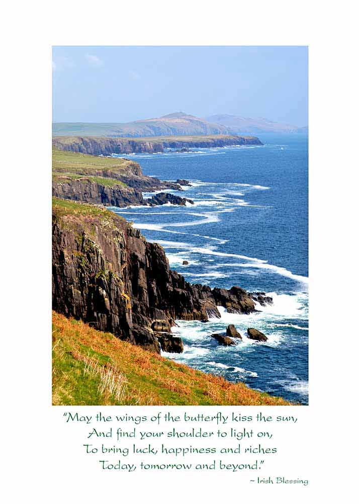 Coastline Irish Birthday Card The Irish Card Shop May The Wings