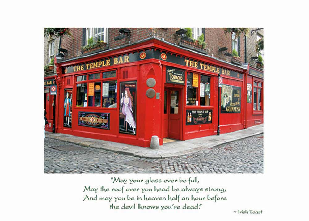 Temple Bar Irish Birthday Card The Irish Card Shop Features 140