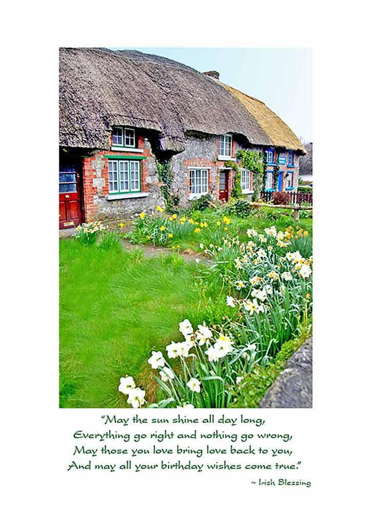 TThatched Cottages Irish Birthday Card Prev