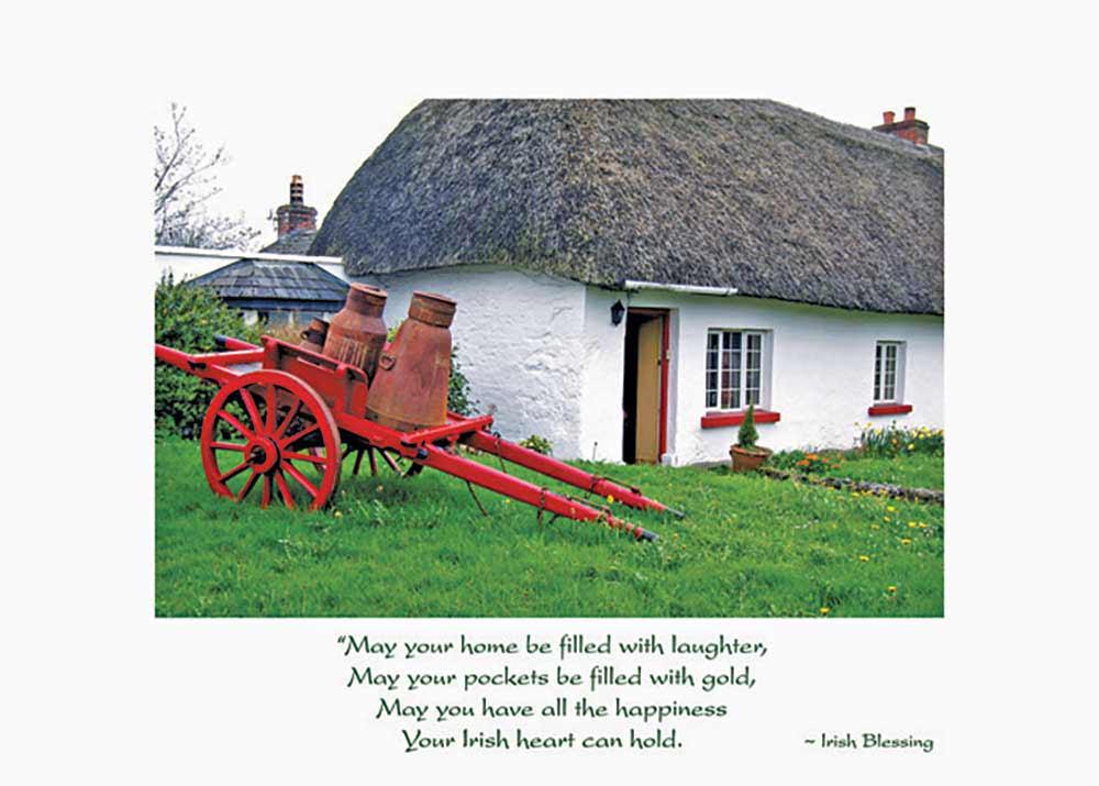 Thatched Cottage Irish Birthday Card The Irish Card Shop