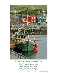 Irish harbor father's day card