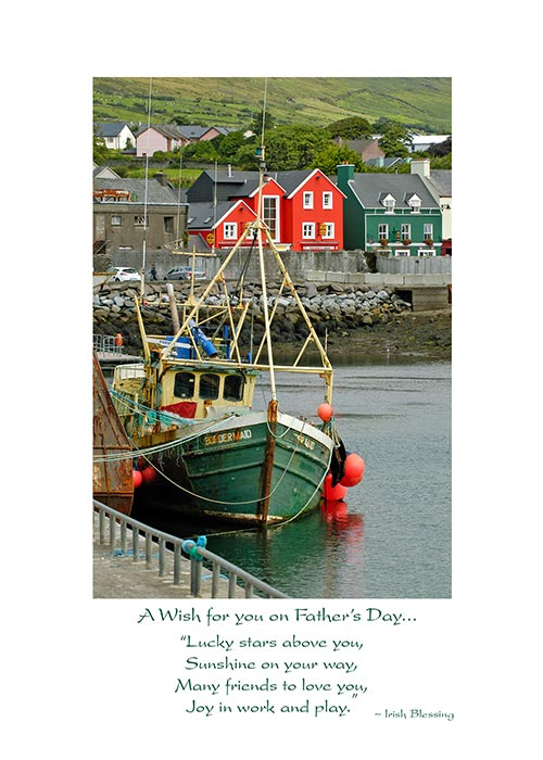 Irish blessing father's day greeting card