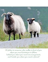 Irish sheep father's day card