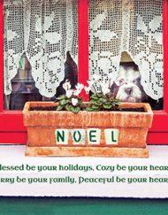 Irish Christmas Window Greeting Card