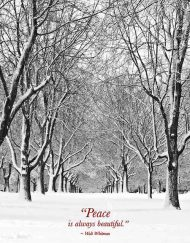 Peaceful trees holiday card