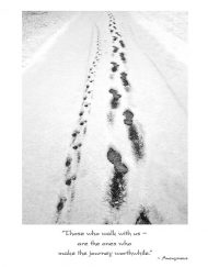 Winter footprints dog sympathy card