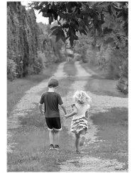 Kids holding hands irish engagement card