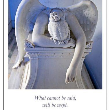 Weeping Angel Sympathy card