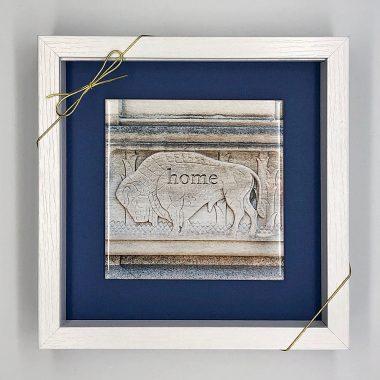 Buffalo Stone Home Framed tile