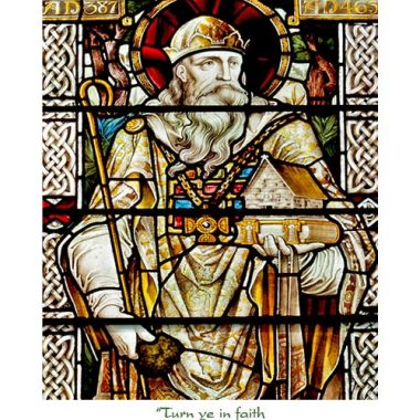 St. Patrick's stained glass card