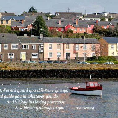 Irish blessing graduation card