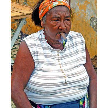 Cigar lady birthday card