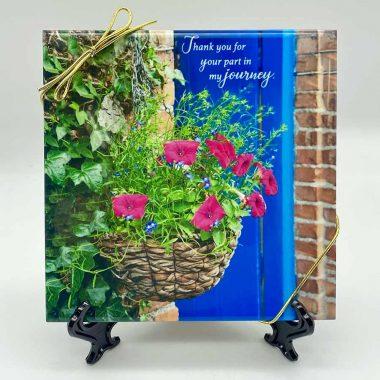 Flower basket thanks triv art