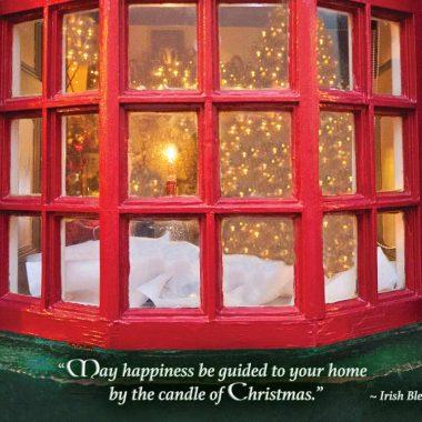 Irish candle of Christmas card