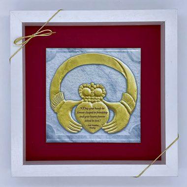 Claddagh wedding framed tile