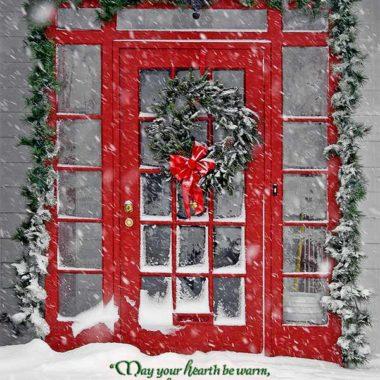 Hearth be warm Christmas card