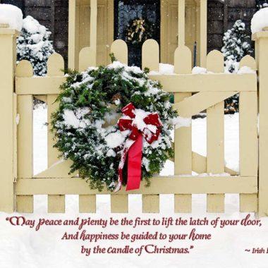 Peace and plenty irish Christmas card