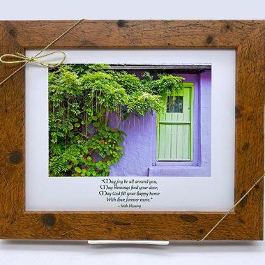 Joy around you framed irish blessing