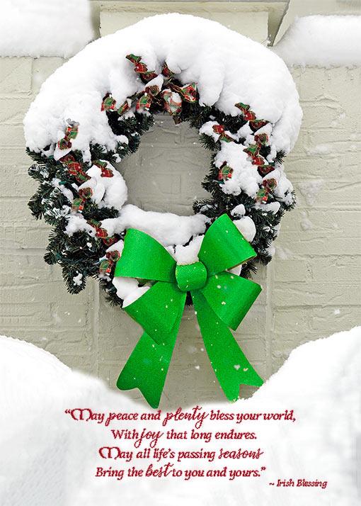 Peace and plenty irish christmas