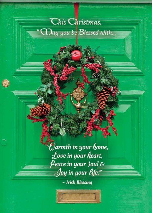 Irish door Christmas Card